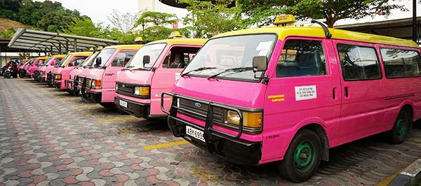 Pink Taxi on Pangkor