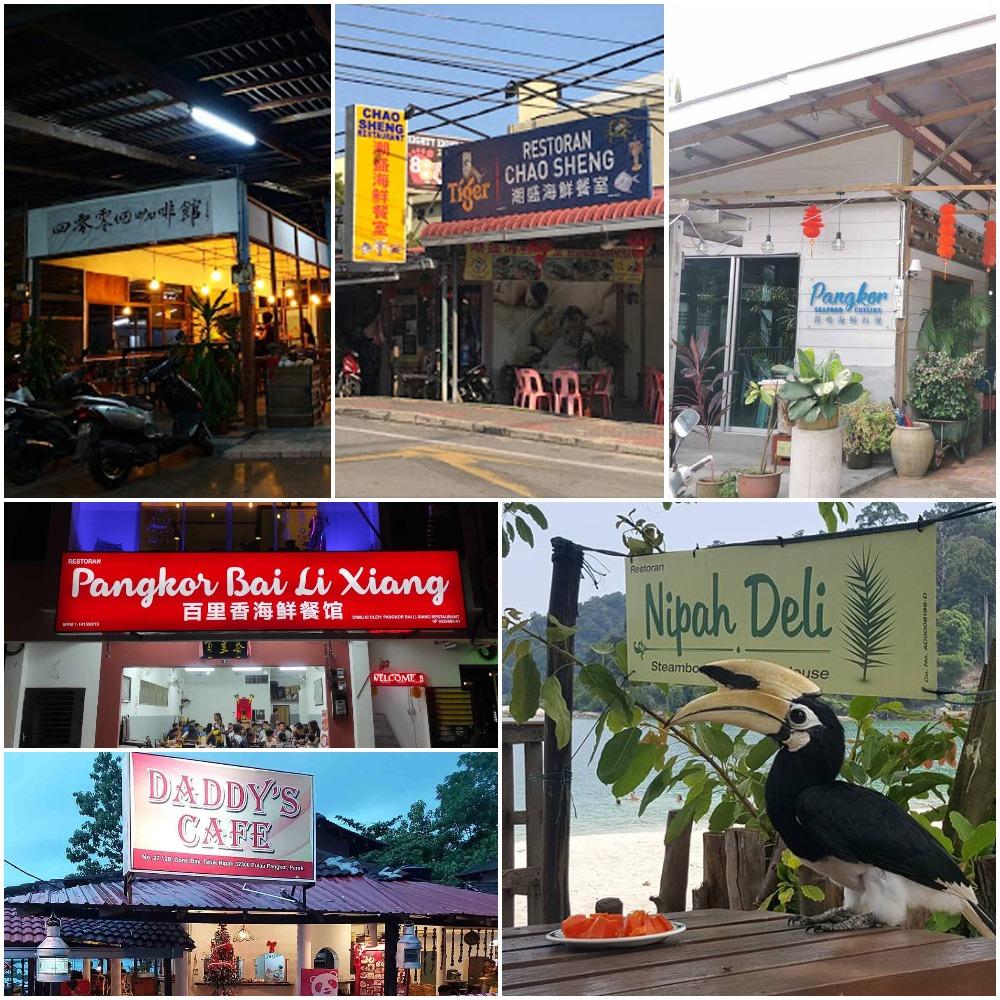 restaurants and cafe on Pangkor Island